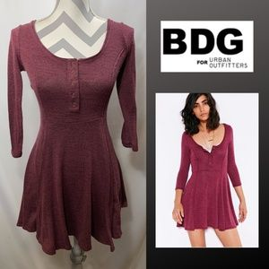 BDG by Urban Outfitters Maroon Skater Dress
